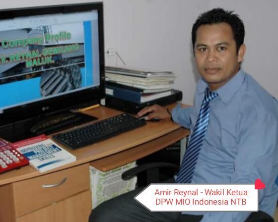 Hijrah Ke MIO Indonesia, Amir Reynal Buser Duduki Posisi Wakil Ketua DPW NTB